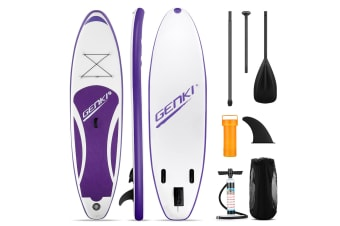 GENKI 300m Inflatable Stand Up Paddle Board SUP Boards Kayak with Accessories Purple