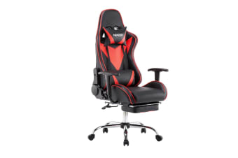 Adjustable High Back Racing Gaming Computer Chair w/ Footrest