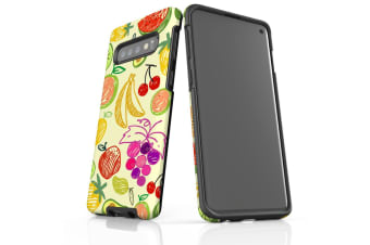 For Samsung Galaxy S10 Case  Armour Tough Cover  Drawn Fruit