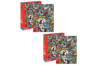 2PK 1000pc Aquarius Marvel Spiderman 71cm Jigsaw Puzzle Kids Educational Toy
