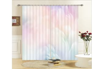 3D Colored Feathers 124 Curtains Drapes