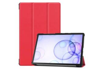 For Samsung Galaxy Tab S6 10.5 T860 2019 Case Smart Ultra Slim Stand Cover-Red