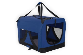 Portable Soft Dog Crate XXXL - BLUE