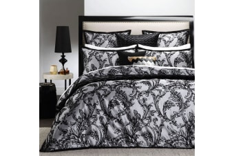 Florentine Black Quilt Cover Set Queen by Ultima