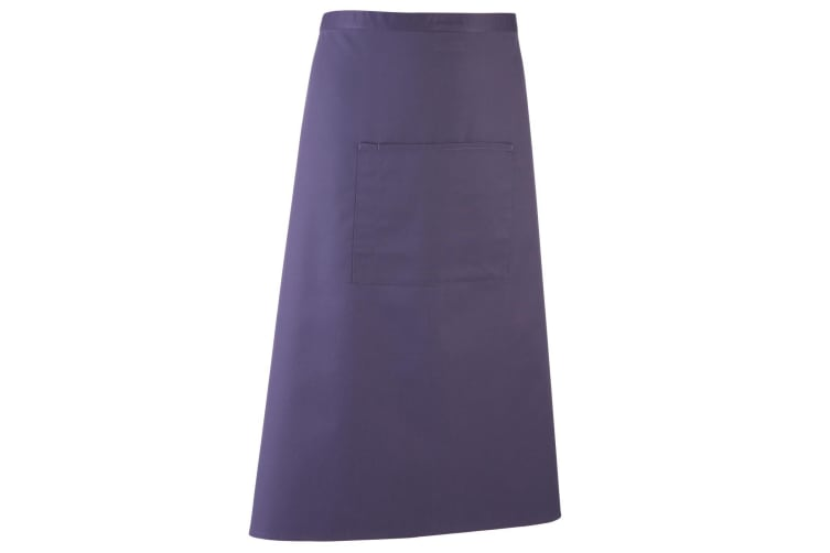 Premier Unisex Colours Bar Apron / Workwear (Long Continental Style) (Pack of 2) (Purple) (One Size)