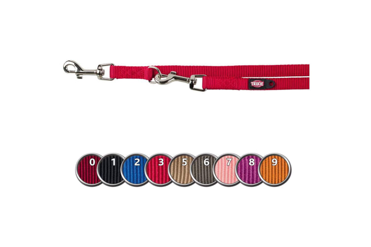 Trixie Fully Adjustable Classic Dog Leash (Red) (M-L)