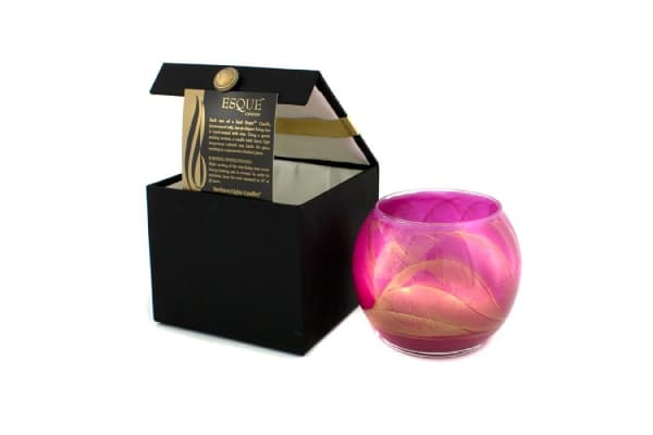 Northern Lights Candles Esque Polished Globe Candle - Bright Fuchsia (4 inch)