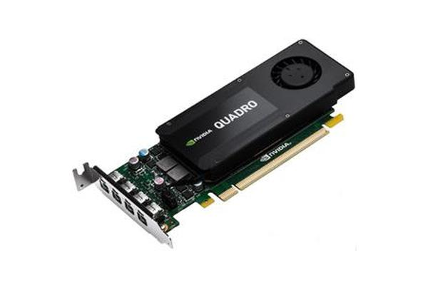 Leadtek Quadro K1200 4GB Workstation Card - 4x miniDP, 4x miniDP to DP Cables Included Single Slot, Low Profile