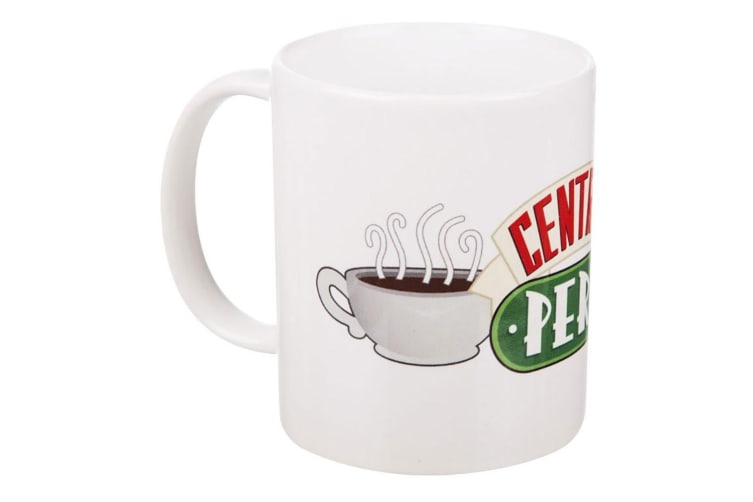 Friends Official Ceramic Central Perk Logo Mug (White) (One Size)