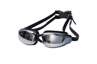 100% UV Protection Unisex No Leaking Triathlon  Swimming Goggles Black