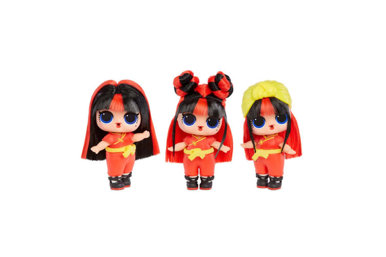 2x LOL Surprise HairVibes Tots Hair Mix Match Makeover Doll w/Comb/Wig 6y+ Asst