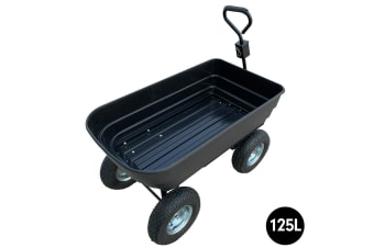 Garden Dump Cart Dumper Wagon Carrier Wheel Barrow  125L