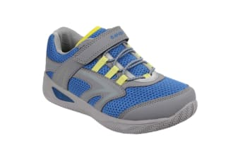 Hi-Tec Childrens/Kids Thunder Lace Up Sports Trainers (Grey/Colbalt/Limoncello) (1 UK)