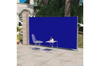 vidaXL Patio Terrace Side Awning 160 x 300 cm Blue