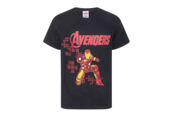 Marvel Official Boys Avengers Iron Man T-Shirt (Black)