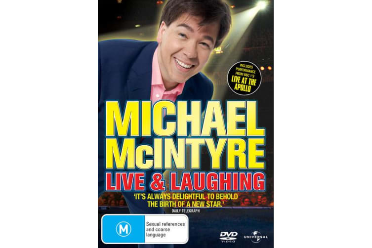 Michael McIntyre Live and Laughing DVD Region 4