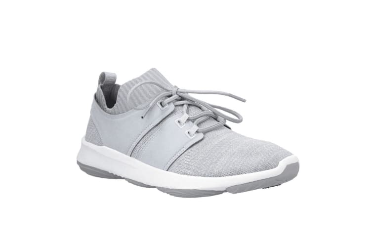 Hush Puppies Mens World BounceMax Lace Up Trainer (Grey Knit) (9 UK)