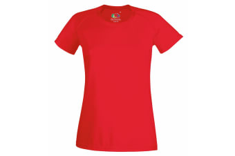 Fruit Of The Loom Ladies/Womens Performance Sportswear T-Shirt (Red)