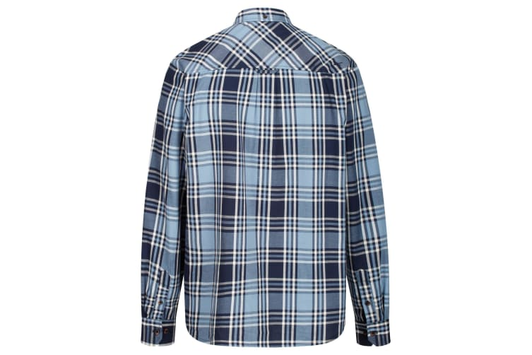 Regatta Great Outdoors Mens Lazare Long Sleeve Checked Shirt (Navy) (3XL)