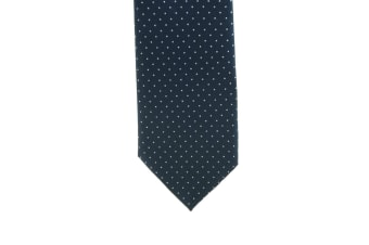 ShowQuest Pin Spot Tie (Navy/White)