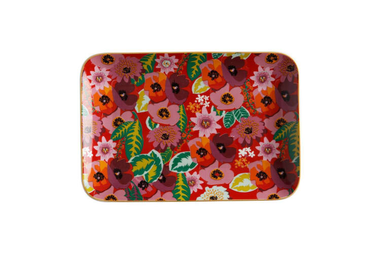 2PK Maxwell & Williams Teas & C's Glastonbury 22cm Rectangular Plate Dish Poppy