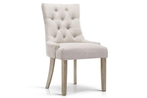 Artiss French Provincial Dining Chair Beige
