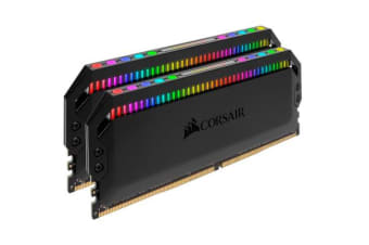 Corsair Dominator Platinum RGB 32GB (2x16GB) DDR4 3200MHz CL16 DIMM Unbuffered 16-18-18-36 XMP 2.0 Black Heatspreader 1.35V Desktop PC Gaming Memory