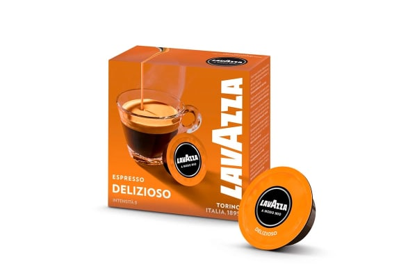 Lavazza Minu Caffe Latte Coffee Capsule Machine with Milk Frother +32 BONUS Capsules