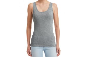 Anvil Womens/Ladies Stretch Sleeveless Tank Top (Heather Grey) (L)