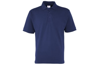 RTXtra Mens Premium Pique Knit Polo Shirt (Navy)