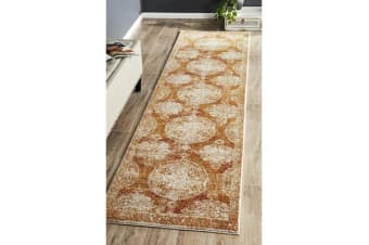 Hazel Rust Durable Vintage Look Runner Rug