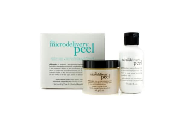 Philosophy The Microdelivery Peel: Lactic/Salicylic Acid Activting Gel 60ml/2oz + Vitamin C/Peptide Crystals 60g/2oz (2pcs)