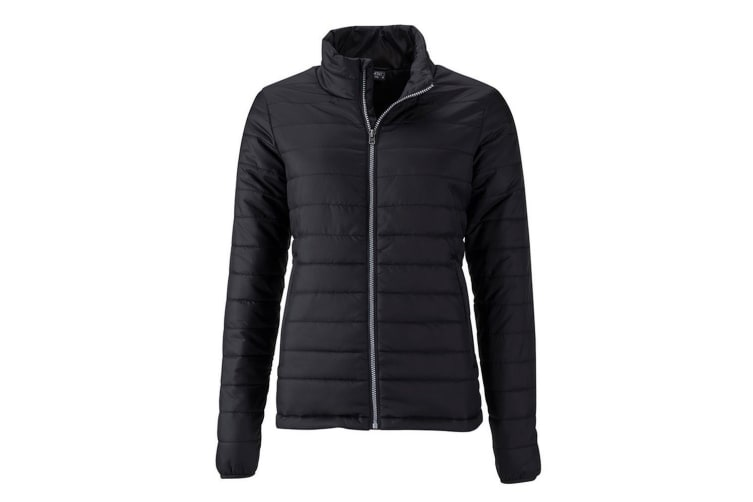 James and Nicholson Womens/Ladies Padded Jacket (Black) (XXL)