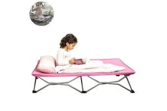 Cot Portable Foldable Toddler Kids Bed/Camping/Picnic/Beach/Outdoor/Travel Pink