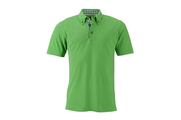 James and Nicholson Mens Traditional Polo (Lime Green) (L)