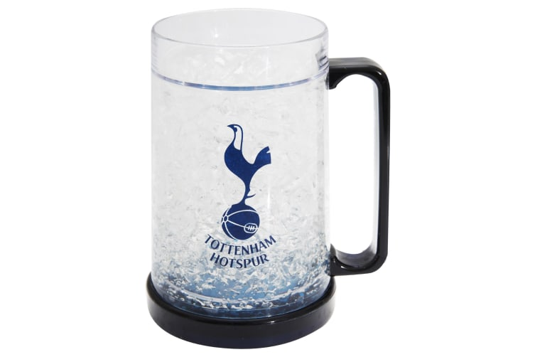 Tottenham Hotspur FC Official Football Crest Freezer Mug (Clear/Black) (One Size)