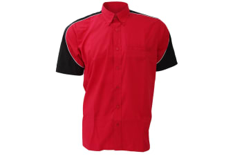 Formula Racing® Sebring Short Sleeve Shirt / Mens Shirts (Red/Black/White)