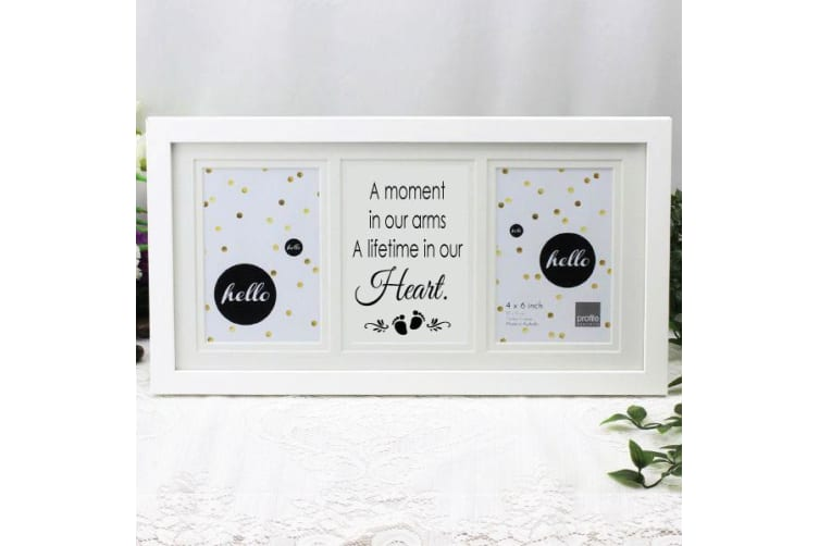 Baby Memorial White Gallery Frame - Heart