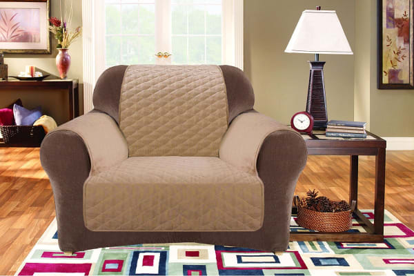 Custom Fit 1 Seater Sofa Protector - Flax
