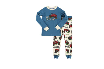 LazyOne Childrens/Kids Field Of Dreams Pyjamas (Blue/White/Red) (9-10 Years)