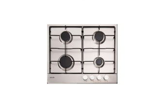 Euro Cooktop Gas 600mm Stainless Steel ECT600GS