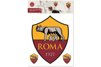 AS Roma Wall Stickers (Red/Yellow) (One Size)