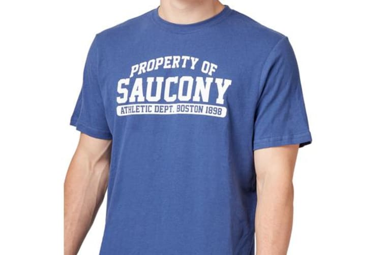 Saucony Mens Property Of Tee (Navy Peony, Size L)
