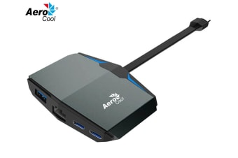 Aerocool Type-C Adapter w/ Lan/USB 3.0/Type-C