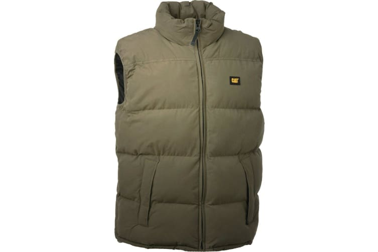 Caterpillar C430 Quilted Insulated Vest / Mens Jackets (Olive) (X-Large)