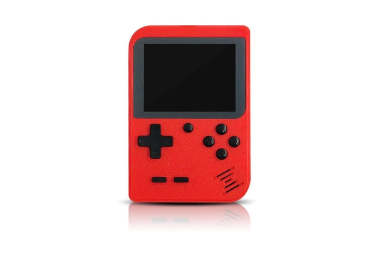 Select Mall 3 Inches Handheld Game Player Portable Retro Video Game Player Support Connecting TV and Two Players-Red