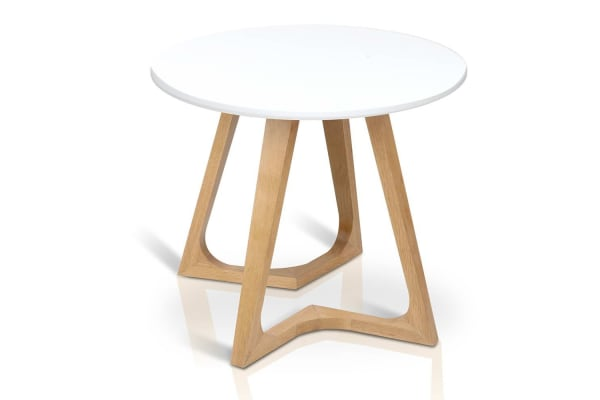 Timber Console Side Table (White)