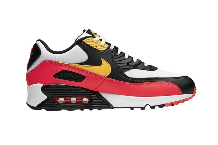 Nike Men's Air Max 90 Essential Shoes (Red/Black/Yellow, Size 9.5 US)