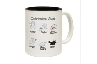 123T Funny Mugs - Catriculum - Black Coffee Cup
