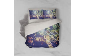 3D Anime Attack Giant Quilt Cover Set Bedding Set Pillowcases 76-Double